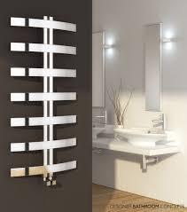 bathroom cloakroom heated towel bar in chrome finish for bathroom