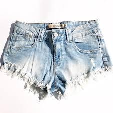 light wash denim shorts zara shorts premium frayed light wash jean poshmark