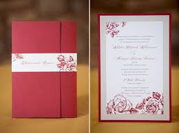Winery Wedding Invitations Napa Winery Wedding Red Roses Accents Of Gold Black And White