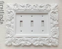Shabby Chic Light Switch Covers by Light Switch Cover Plate Triple Ornate Framed Shabby Chic