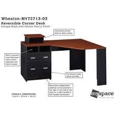 Wheaton Reversible Corner Desk Bush Industries Myspace Wheaton Reversible Corner Desk Home