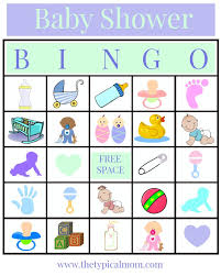 free printable baby shower bingo the typical mom