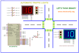 4 way traffic light using arduino automatic traffic light using pic microcontroller code circuit