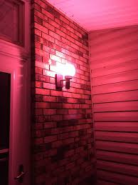 pink lights for room pink lights popping up on porches to honor the 6 family members who
