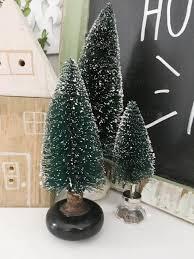 unique ways to use bottle brush christmas trees refresh living