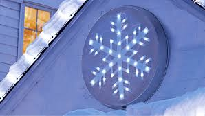 lighted snowflake holiday decoration