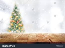 Decoration Used For Christmas Tree by Wood Table Top On Blur Christmas Stock Photo 520326988 Shutterstock
