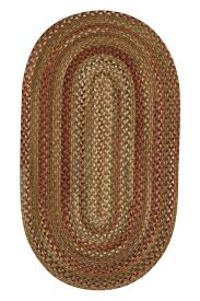 Jute Braided Rugs Sage Red Hues Manchester Braided Rug Cottage Home