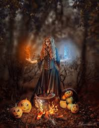 Halloween Fantasy Art Halloween Witch By Vampiredarlla On