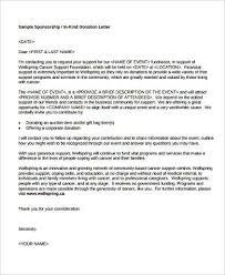 sample sponsorship letter 9 examples in word pdf