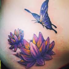 butterfly and lotus flowers tattoos lotus flowers