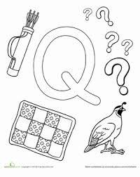 q is for worksheet education com