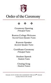 ceremony programs template graduation program template by tpt