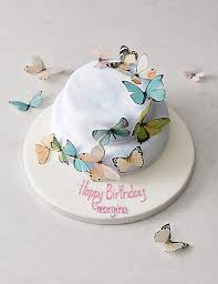 photo cake butterfly cascade cake serves 28 m s