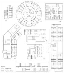 architectural layouts architectural layouts of the eight nursing units used in this