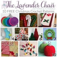 free christmas crochet patterns the lavender chair