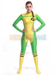 men costumes x men costume yellow green spandex x men rogue party