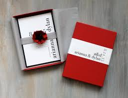 Exclusive Wedding Invitation Cards Modern Luxury Box Wedding Invitations Red Wedding Elegant