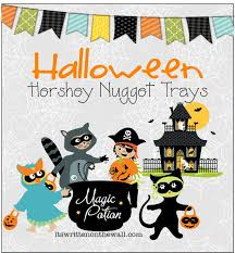 halloween hershey nugget treats for party favors trick o treaters