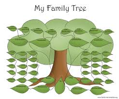 family tree template resources big green family to fill