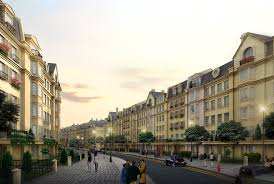 european style street with buildings 3d cgtrader