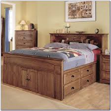 Bookcase Headboard Queen Queen Size Captains Bed With Bookcase Headboard Bedroom Home