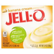 jell o instant pudding u0026 pie filling banana cream 3 4 oz