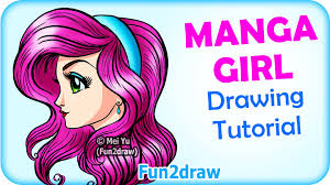 new how to draw manga beautiful wavy hair style drawing