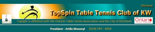 Topspin Table Tennis by Topspin Table Tennis Of Kitchener Waterloo Associated With Otta