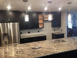 white kitchen countertops with brown cabinets granite projects classic marble hoagland indiana