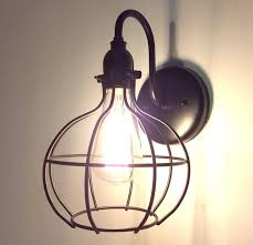 Edison Bulb Wall Sconce Cage Industrial Wall Light Sconce With Edison Bulb The L Goods