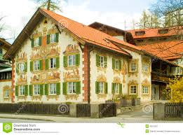painted houses painted house in bavaria stock image image of alps mountains 4515051