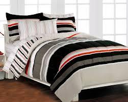 bedroom sets for teenage guys comforter sets for teen boys nautical stripe gray 5p bedding set