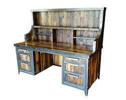 reclaimed wood industrial desk industrial evolution furniture co