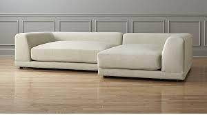 Uno Cream Extra Deep Sectional Sofa CB - Puff sofa 2
