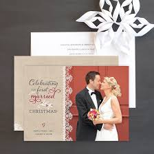 married christmas cards newlywed and married christmas photo cards the