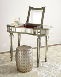 Mirrored Desk Vanity Mirrored Furniture Coffee Tables U0026 Cabinets At Neiman Marcus Horchow