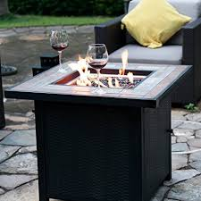 patio table with fire pit amazon com lp gas fire table 30 in w 50000 btu propane gas