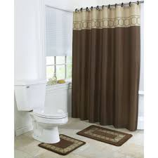 Bathroom Rug And Shower Curtain Sets 4 Bathroom Rug Set 3 Chocolate Ring Bath Rugs With