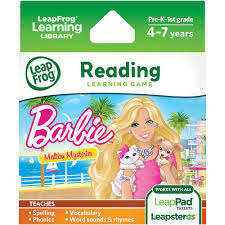 leapfrog learning game barbie malibu mysteries for leappad