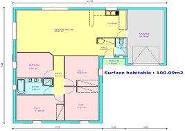 les 3 chambres maison plain pied 3 chambres bureau plan maison