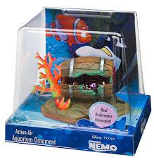 penn plax finding nemo aerating resin ornament
