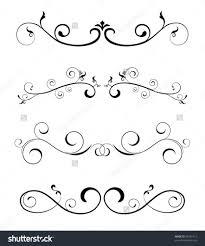 home design floral borders design elements stock vector
