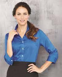 van heusen 13v0527 women u0027s three quarter sleeve baby twill shirt