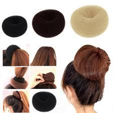 cool hair donut women girl hair bun donut ring shaper styler maker hair