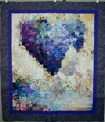 sorrow abstract floral quilt wall hanging by fiberaddictdesigns on