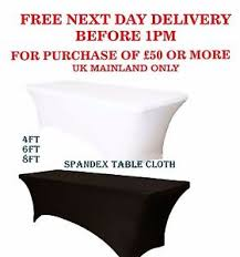 Spandex Table Cover 4ft 120cm Rectangular Spandex Table Cover Lycra Stretch Wedding