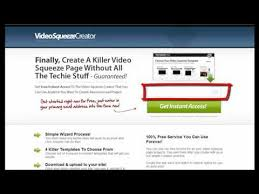free video squeeze page creator youtube