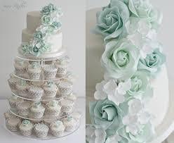 wedding cupcake tower green wedding cupcake tower