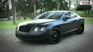 mayweather bentley bentley continental gt black matte youtube